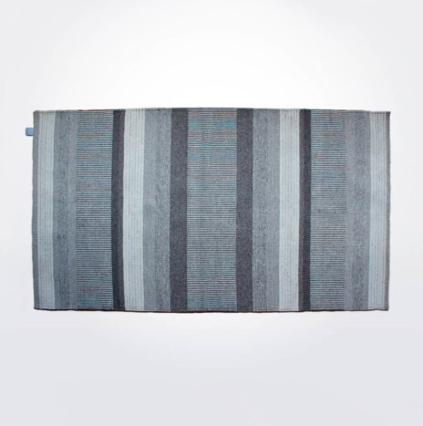 Fari Gray Striped Area Rug