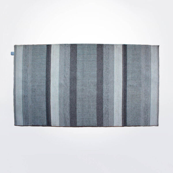 Fari gray striped area rug.