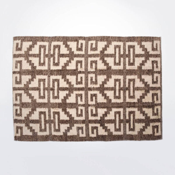 Mayan light brown wool rug product photo.