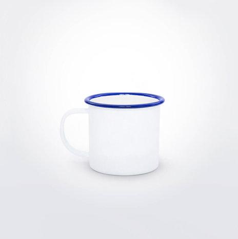 Blue & White Enamel Mini Mug
