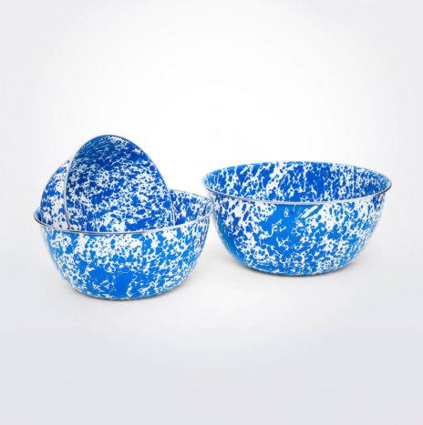 Blue Splatter Mixing Bowl Set