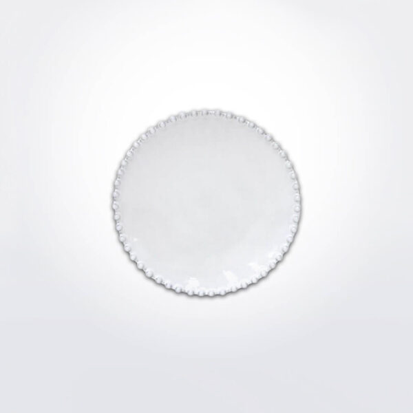 Costa nova pearl bread plate set gray background.