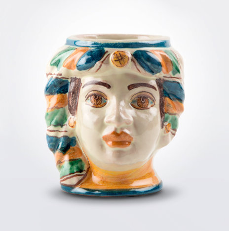 Ceramic Woman Head Pencil Holder