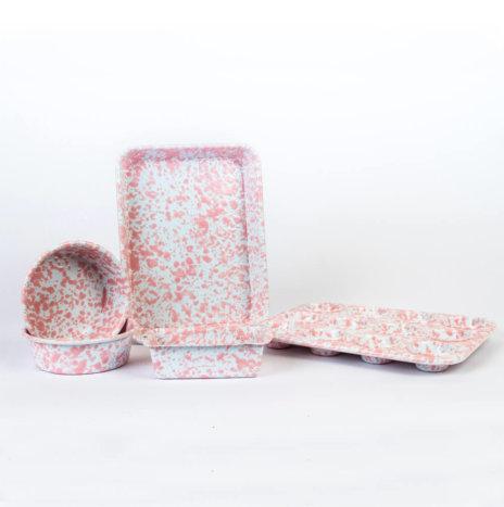 Children's Pink Enamel Baking Set