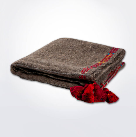 Gray Wool Throw