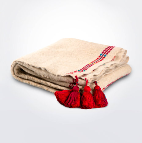 Natural Wool Throw