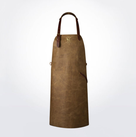 Vintage Sand Leather Apron