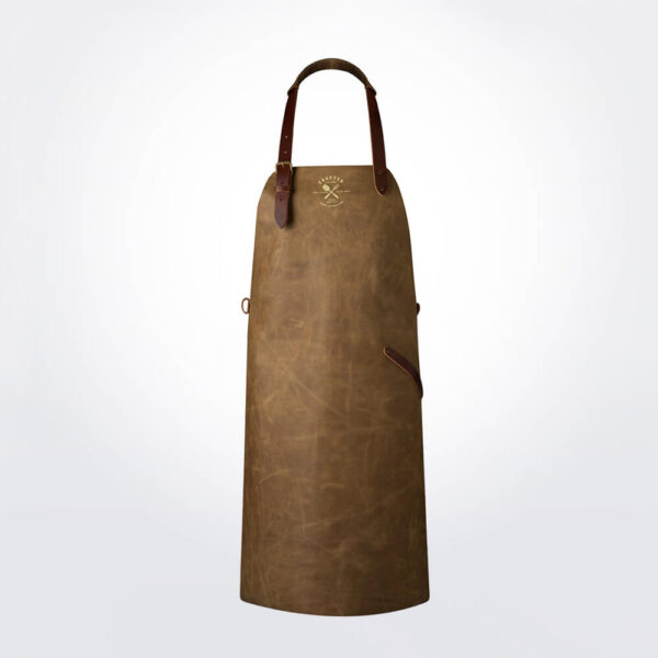 Vintage leather apron sand product picture.