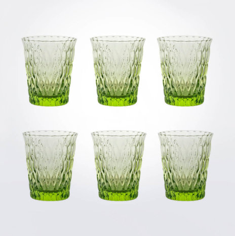 Acid Green Tumbler Glass Set