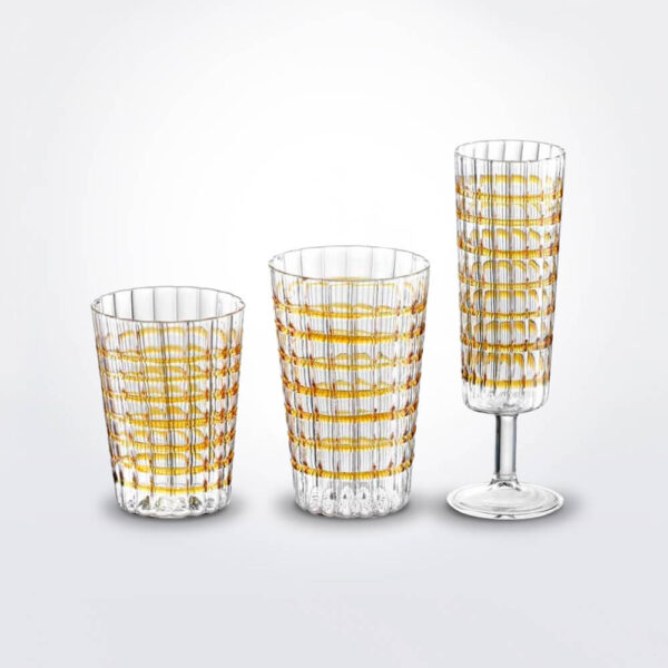 Amber glass set.
