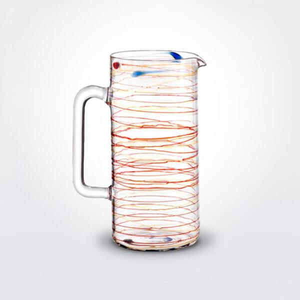 Arianna spiral glass jug grey background.