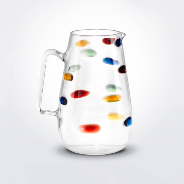 Arlecchino dots glass pitcher.