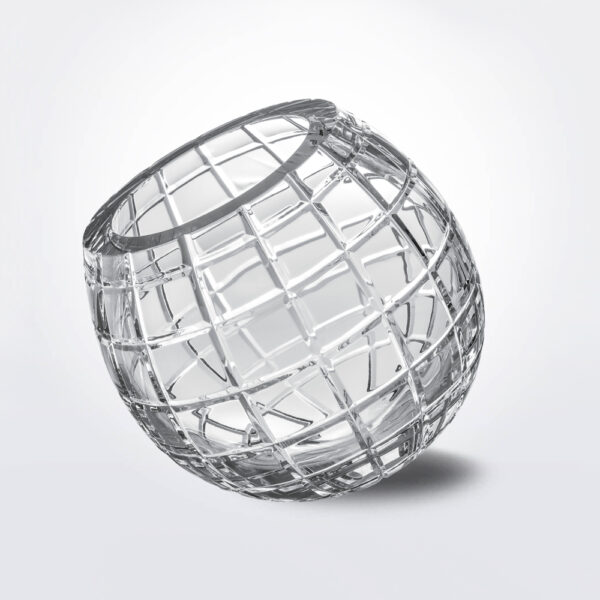 Biglie grid glass vase product picture.