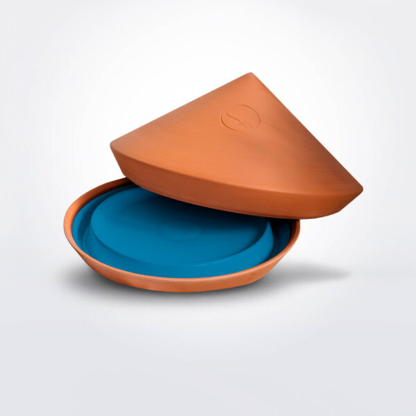 Blue spring ovenware product picture.