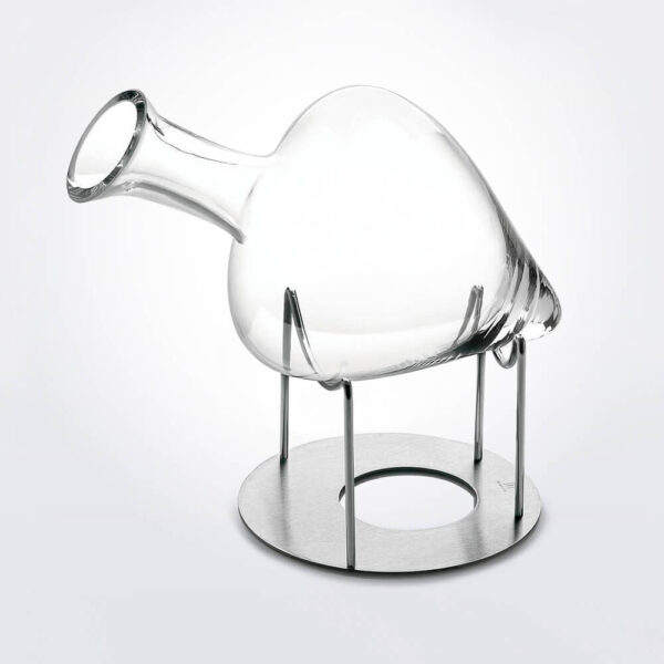 Cantico wine decanter with support.