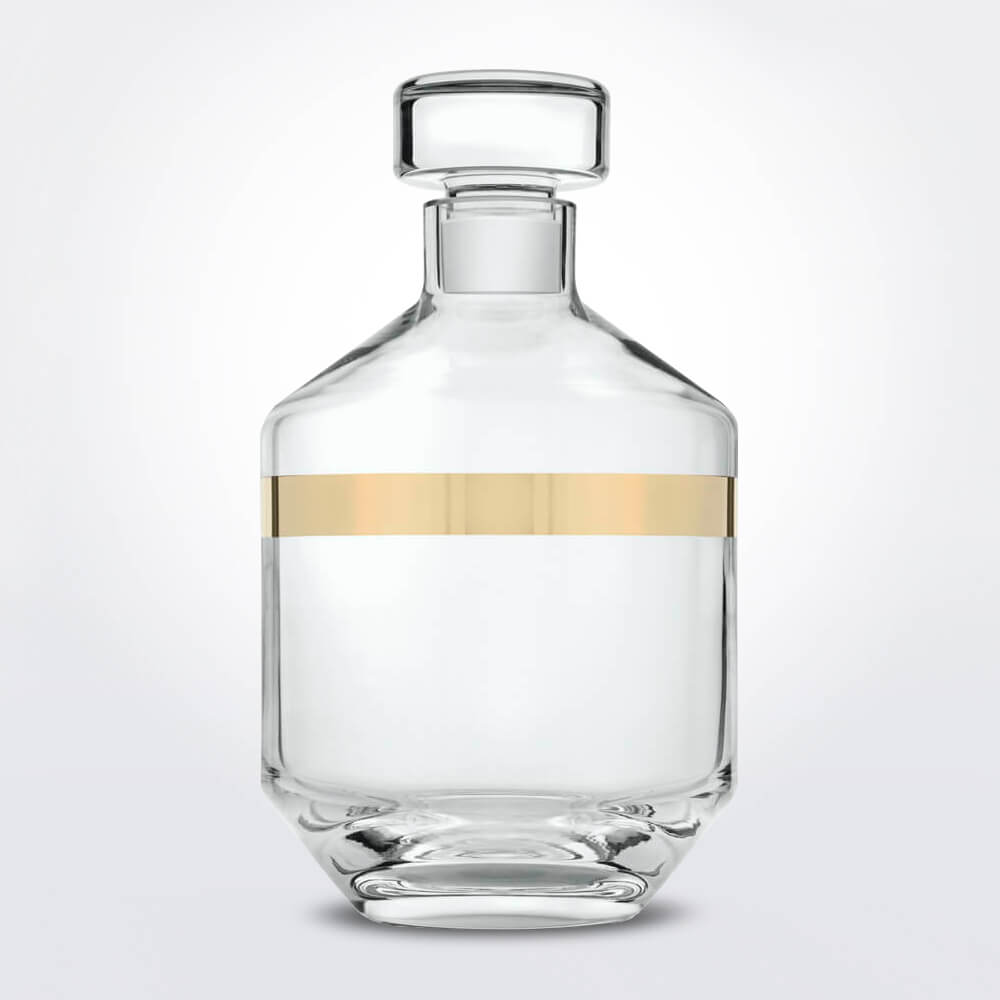 Clear-gold-liquor-glass-bottle-1