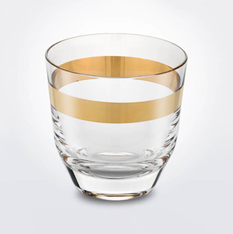 Clear & Gold Whiskey Glass Set