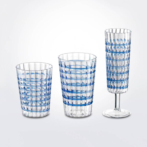 Cobalt glass set.