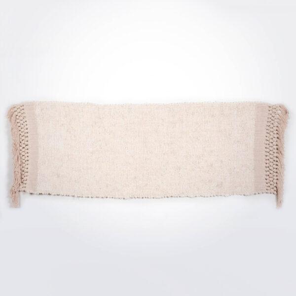 Cream cotton rug product picture.