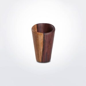 Dark wood drinking cup.
