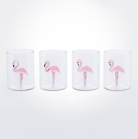 Flamingo Glass Set