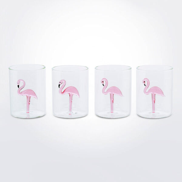 Flamingo glass set product picture.