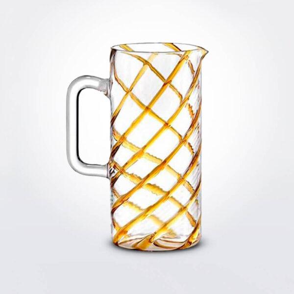 Glass amber spirale carafe.