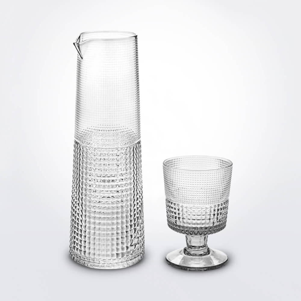 Glass-cup-and-carafe-set