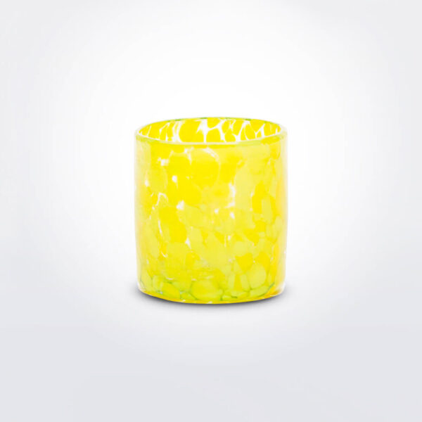 Yellow confetti shot glass set individual.