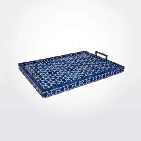 Honeycomb Indigo Tray (Medium)