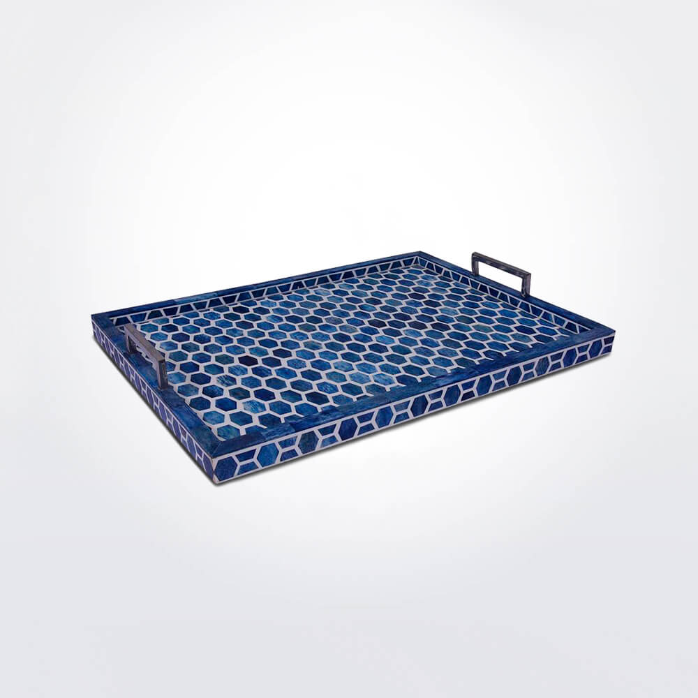 Honeycomb-indigo-tray-medium