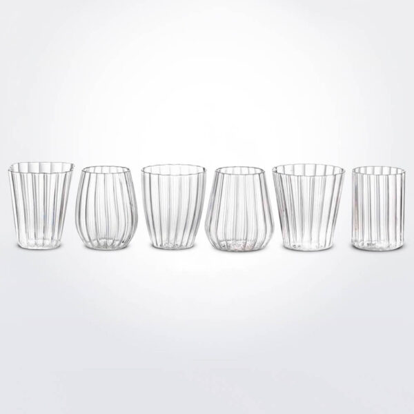 Line clear glassware set.