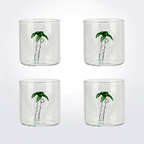 Palm glass set product picture.