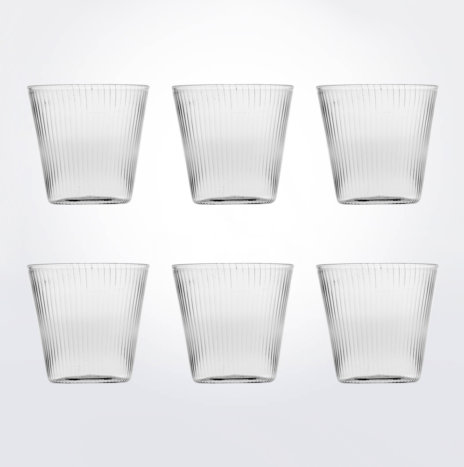 Striped Water Glass Set