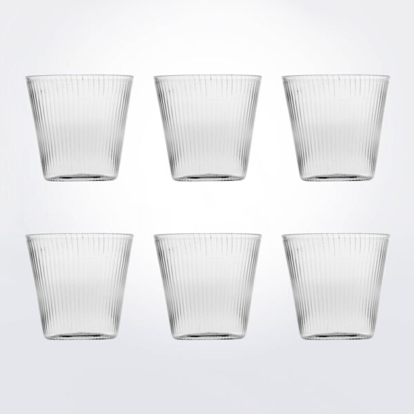 Striped water glass set product picture.