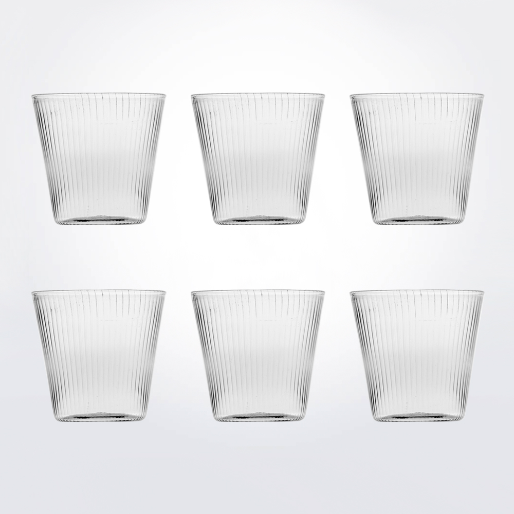 Striped-water-glass-set