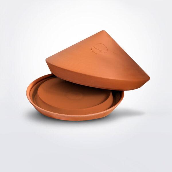 Terracotta spring ovenware.