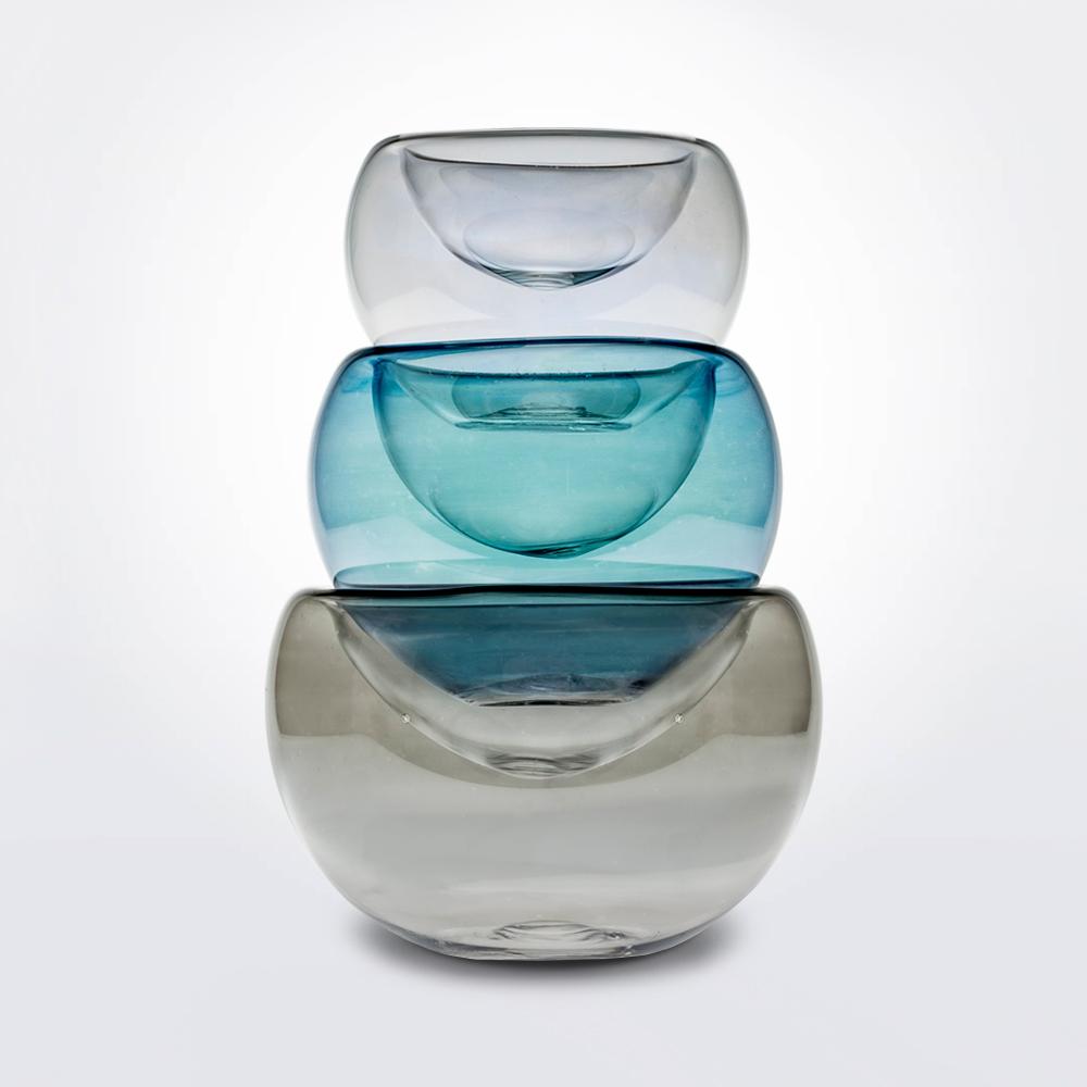 Triplet-glass-vase-set