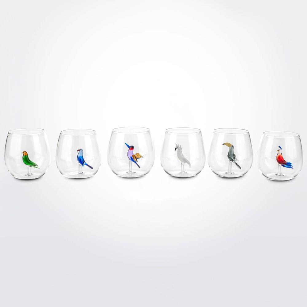 Tropical-bird-glass-set