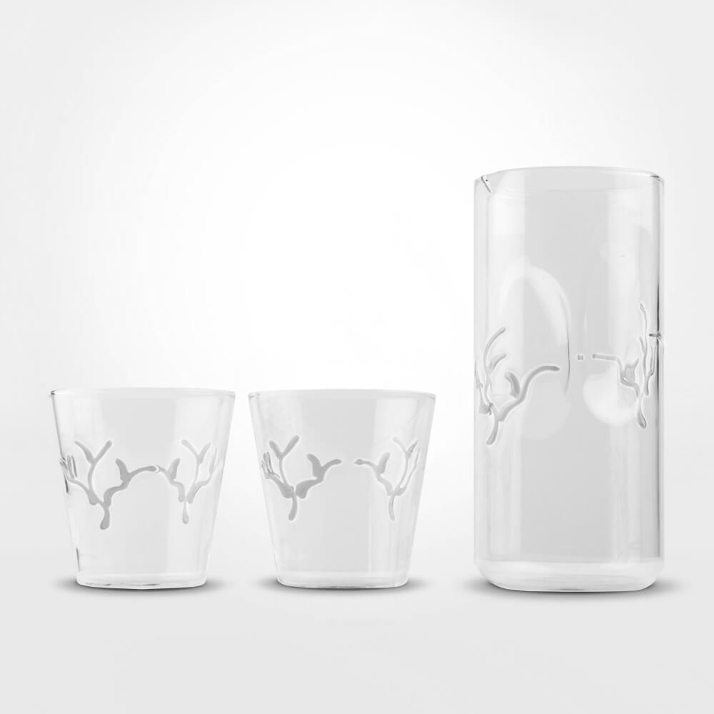 White-coral-pitcher-tumbler-set
