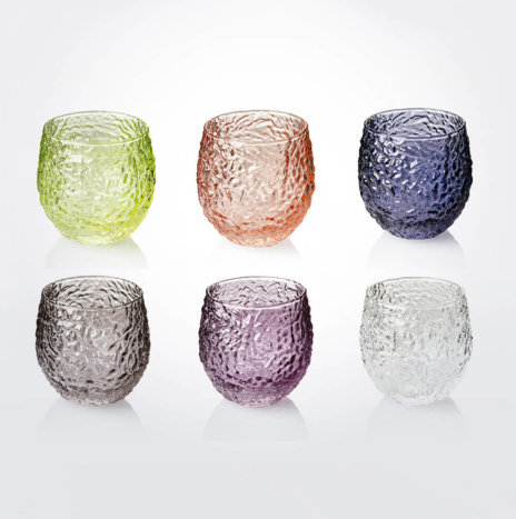 Wrinkled Colored Water Tumbler Set
