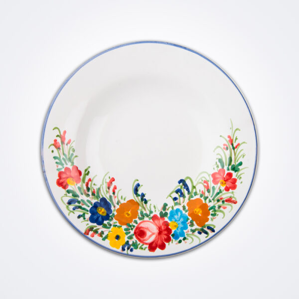 Fiori pasta plate product photo.