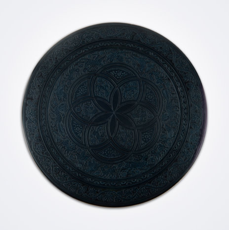 Black Olinalá Round Tray