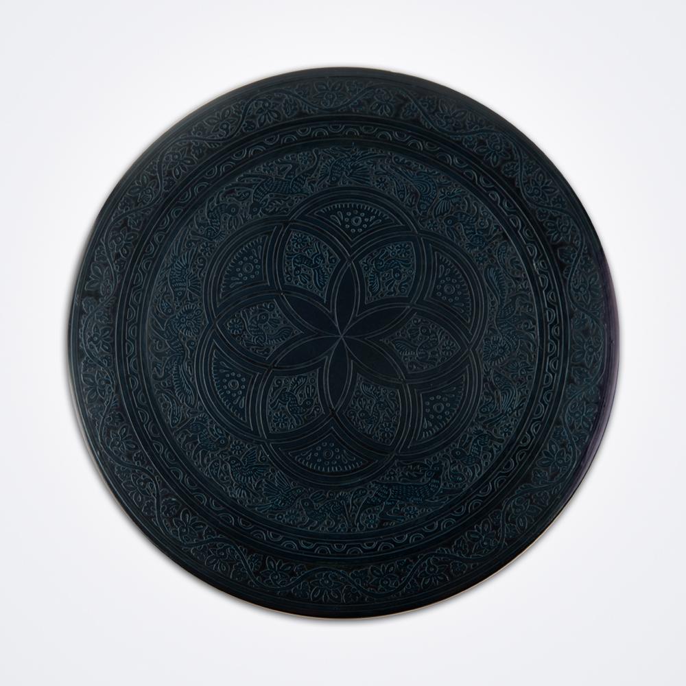 Black-olinala-round-tray-1
