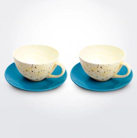 Ceramic Cup and Saucer Set