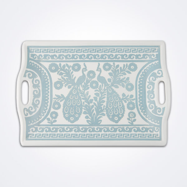Carved rectangular tray product photo.