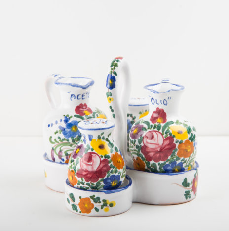 Ceramic Salad Dressing Set