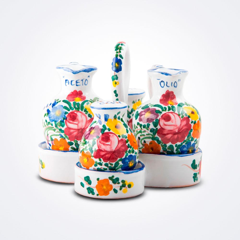 Ceramic-salad-dressing-set
