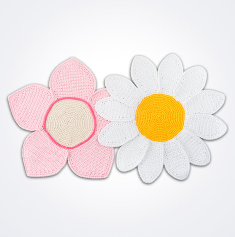 Crochet Flower Placemat Set