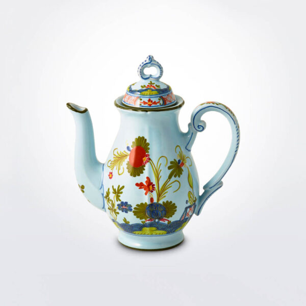 Blue Majolica coffee pot product picture.